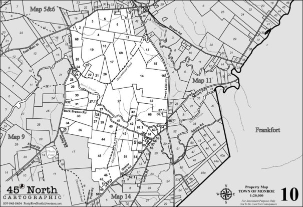 MONROE MAINE TAX MAP 10