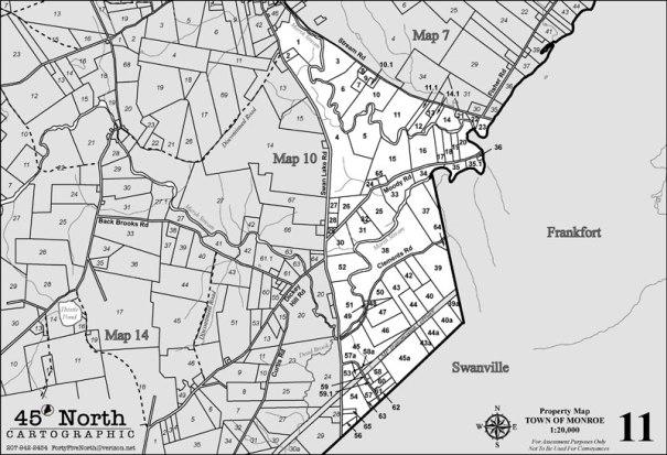 MONROE MAINE TAX MAP 11