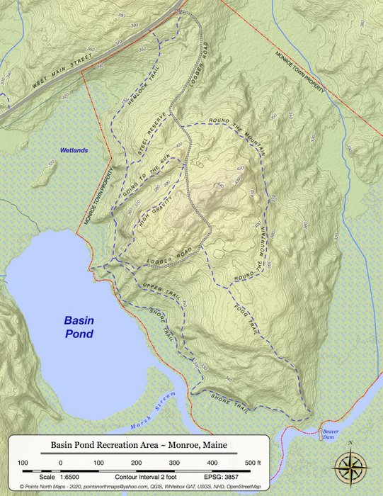 Basin Pond Trail Map